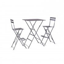 Garden Trading Rive Droite Bistro Bar Set, Charcoal