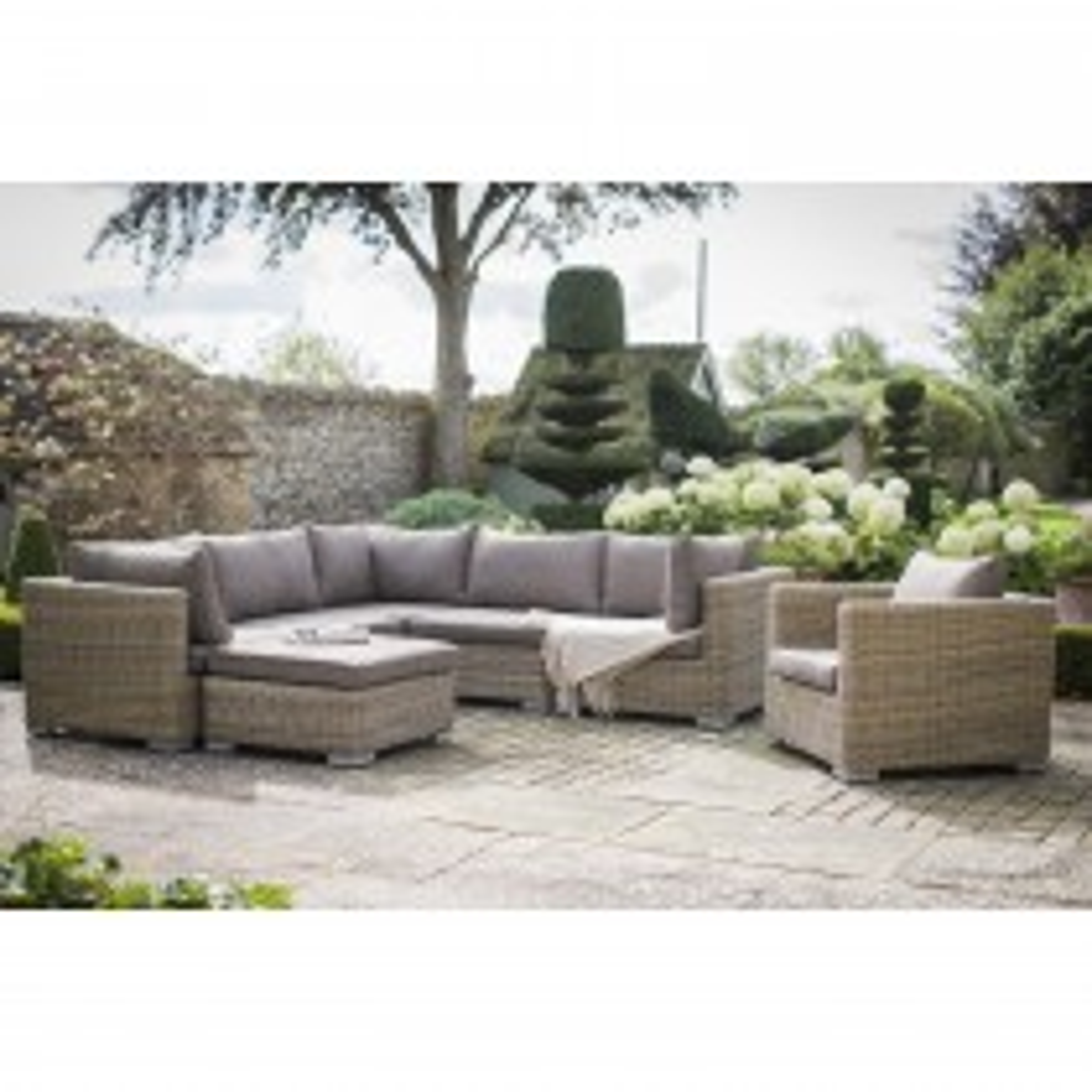 Garden Trading Marden Corner Sofa Set, Natural Rattan