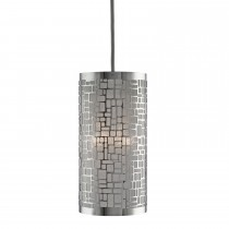 Lighting Collection Chrome Ceiling Shade, Chrome