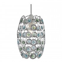 Lighting Collection Beaded Ceiling Shade, Blue
