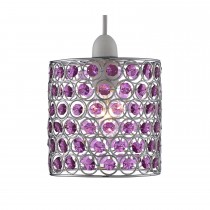 Lighting Collection Beaded Ceiling Shade, Purple