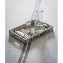 Garden Trading Wooden Tray - Drinks Anyone?