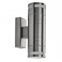 Outdoor 2 Light Wall Bracket, Stainless Steel
