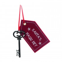 Festive Santas Magic Key Hanging Decoration, Red