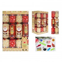 12 Family Christmas Crackers, Red