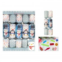 10 Family Christmas Crackers, Blue