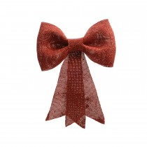 Bow With Glitter, Red
