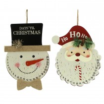 Festive Countdown Head Hanging Decoration, White