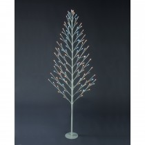 Festive Flat Twig Tree With, White