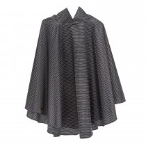Totes Fabric Poncho & Pocket, Black/white