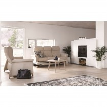Stressless Breeze 3 Seater Sofa With 1 Leg Comfort
