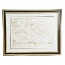 Casa Vintage Word Map Print, Gold