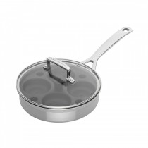 Le Creuset 3-Ply Stainless Steel Sauté Pan with Poach Insert 20cm