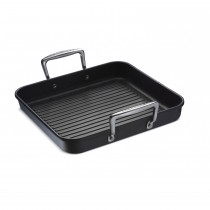 Le Creuset Toughened Non-Stick Square Grill with 2 Handles 28cm