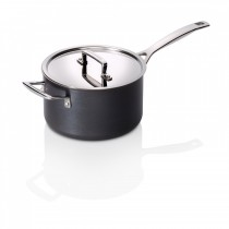 Le Creuset Professional Hard Anodised Saucepan with Lid 18cm