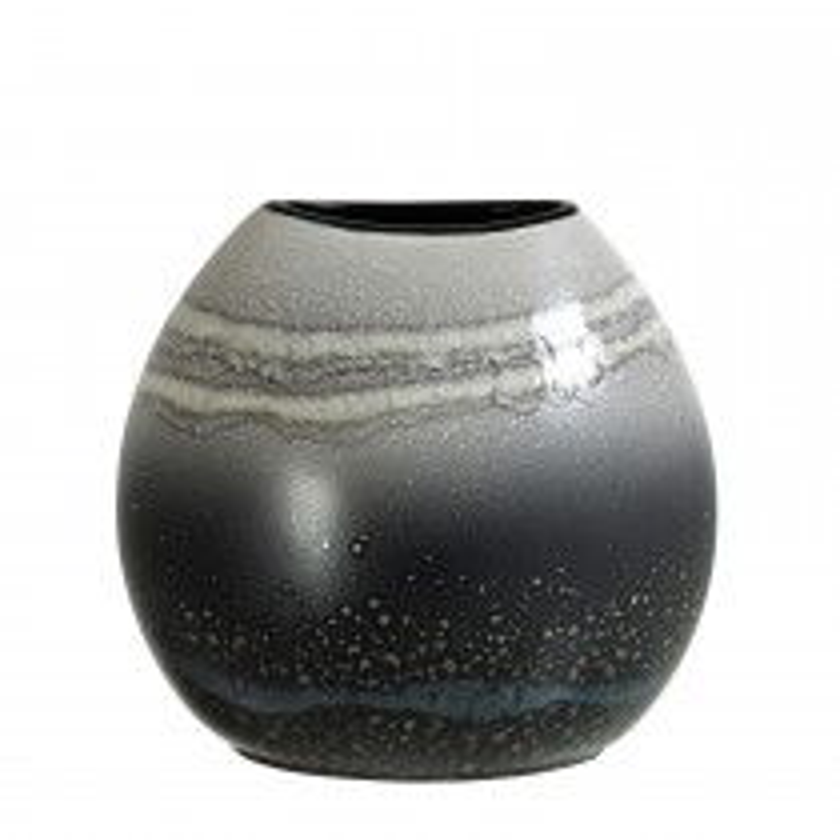 Poole Pottery Aura Purse Vase 20cm, Grey