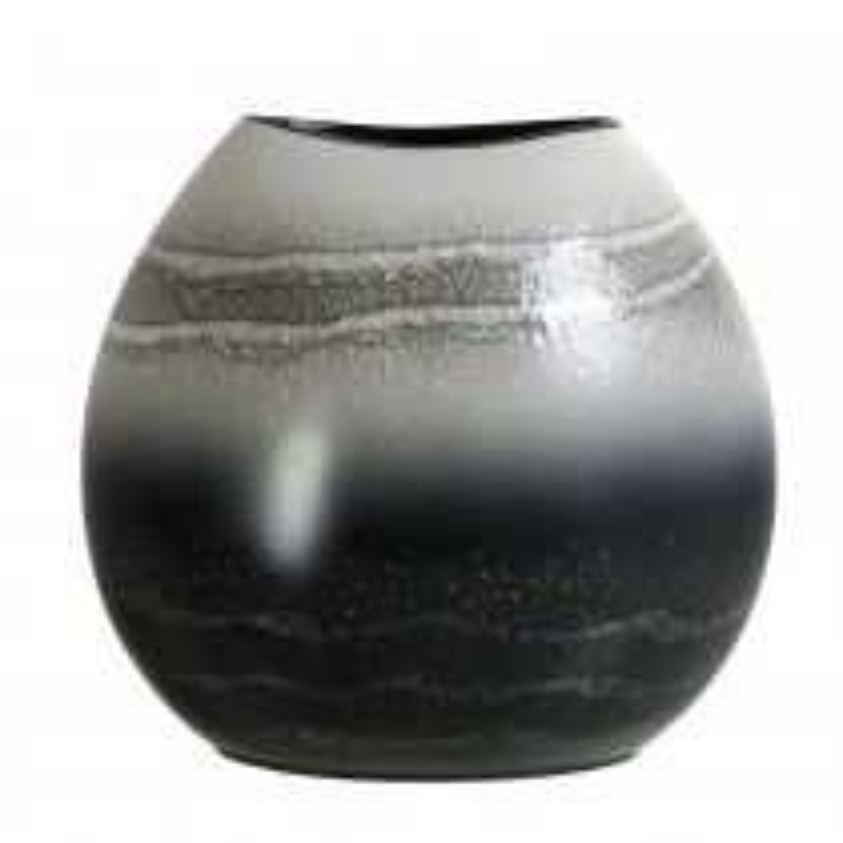 Poole Pottery Aura Purse Vase 26cm, Grey