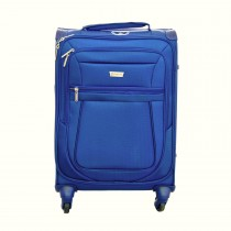 Aerolite Canterbury 35cm x 20cm x 55cm Small 4 Wheel Suitcase, Midnight Blue