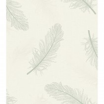 Holden Decor Opus Marcia Feather Wallpaper, Green