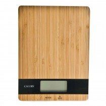 Casa Electronic Kitchen Scales, Bamboo/black