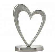 Heart On Stand Sculpture, Silver