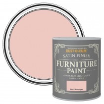 Rustoleum 125ml Satin Pink Champagne Paint, Pink Champagne