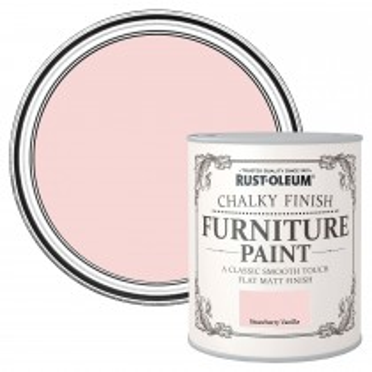 Rustoleum 750ml Chalky Strawbrry Vanilla Paint, Strawberry Vanilla