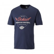 Dickies Small Lyndon T Shirt, Navy Blue