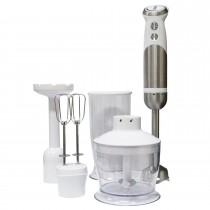 Igenix 4 In 1 Hand Blender Set, Silver