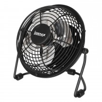 "Igenix 4"" Usb Desk Fan, Black"