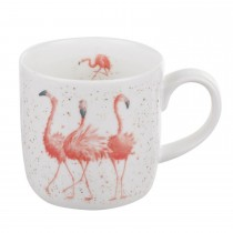 Portmeirion Pink Ladies Flamingo Mug, Pink