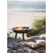 Garden Trading Medium Foscot Fire Pit, Raw Metal
