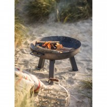 Garden Trading Small Foscot Fire Pit, Raw Metal