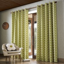 Orla Kiely Linear Stem 66x90 Curtains Olive