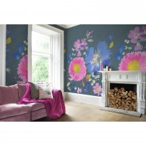 Bluebellgray Kippen Mural Wallpaper, Smoke Blue