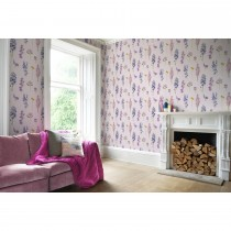 Bluebellgray Murran Wallpaper, Pink/ Blue