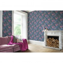 Bluebellgray Kippen Wallpaper, Blue/ Pink
