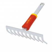 Wolf Close Toothed Rake 19cm, Red/yellow