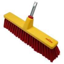 Wolf Patio Broom, Red/yellow