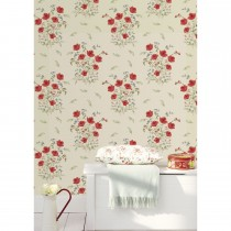 Holden Decor Summer Bouquet Wallpaper, Red