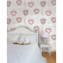 Holden Decor Gracie Wallpaper, Pink