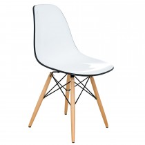Casa Rydal Chair - White/black D Chair, White/black