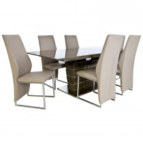 Casa Lucia Dining Table & 6 Monza Chairs