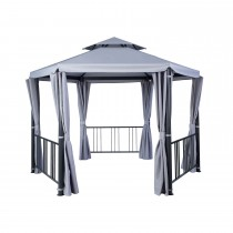 Hartman Hexagonal Gazebo 3.5m, Grey