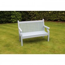 Winawood Sandwick 2st Wood Effect Bench, Powder Blue