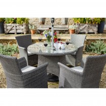 Hartman Casa Outdoor Dining Set, 4 Seater, Slate/Stone