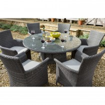 Hartman Casa Outdoor Dining Set, 6 Seater, Slate/Stone