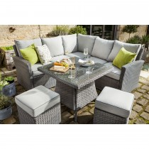 Casa Square Casual Dining Set, Slate/ Stone
