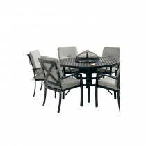 Jamie Oliver Set Grilling 4 Seater, Riven/pewter