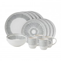 ED by Ellen DeGeneres 16 Piece Set Grey Lines, Grey